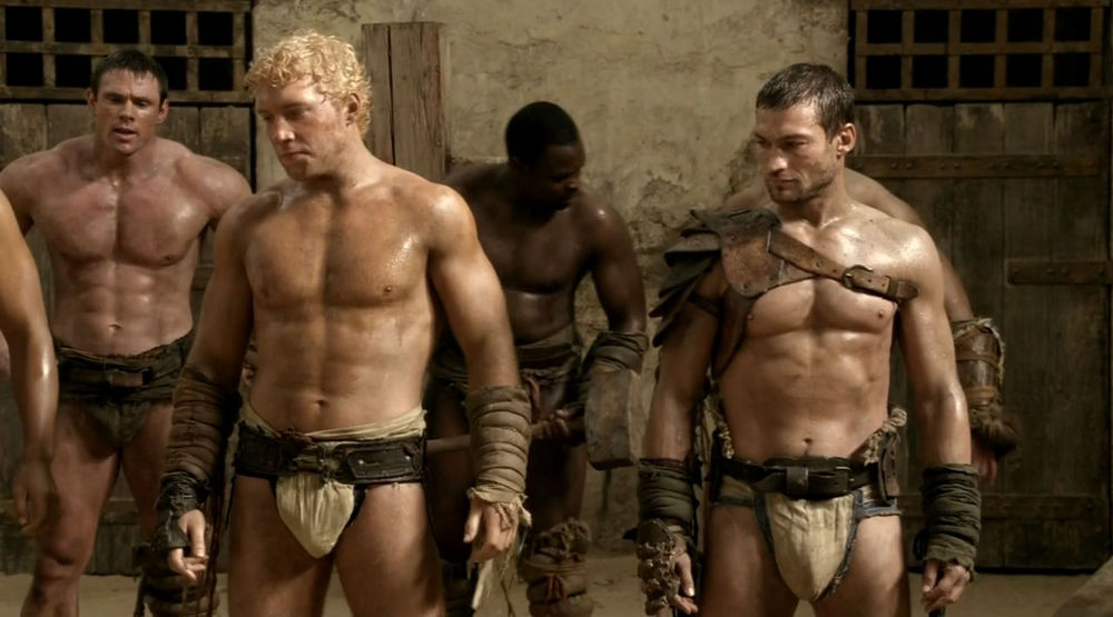 andy whitfield shirtless spartacus