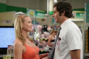 "CHUCK -- ""Chuck vs. the Seduction"" episode 202 -- Pictured: (l-r) Yvonne Strahovski as Sarah Walker, Zachary Levi as Chuck Bartowski -- NBC Photo: Adam Taylor"