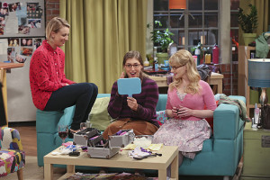 """The Bachelor Party Corrosion"" -- The girls force Penny to finally tell her family that she eloped with Leonard, on THE BIG BANG THEORY, Monday, Oct. 5 (8:00-8:31 PM, ET/PT), on the CBS Television Network. Pictured left to right: Kaley Cuoco-Sweeting, Mayim Bialik and Melissa Rauch Photo: Monty Brinton/CBS ©2015 CBS Broadcasting, Inc. All Rights Reserved"