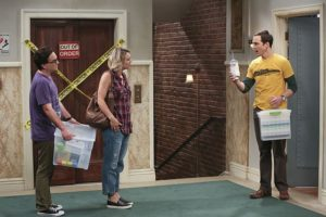 """The 2003 Approximation"" -- Sheldon (Jim Parsons, right) learns of an impending change in his living arrangements and decides to revert back to 2003, a simpler time before he met Leonard (Johnny Galecki, left) and Penny (Kaley Cuoco, center), on THE BIG BANG THEORY, Monday, Oct. 12 (8:00-8:31 PM, ET/PT), on the CBS Television Network. Photo: Darren Michaels/Warner Bros. Entertainment Inc. © 2015 WBEI. All rights reserved."