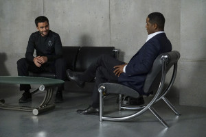 """MARVEL'S AGENTS OF S.H.I.E.L.D. - """"Chaos Theory"""" - As Daisy and the team fight to protect Inhumans, S.H.I.E.L.D. discovers the shocking truth about one of their biggest foes. Meanwhile, Fitz helps Simmons recover information that could lead them back through the portal, on """"Marvel's Agents of S.H.I.E.L.D.,"""" TUESDAY, NOVEMBER 10 (9:00-10:00 p.m., ET) on the ABC Television Network. (ABC/Byron Cohen) JUAN PABLO RABA, BLAIR UNDERWOOD"""