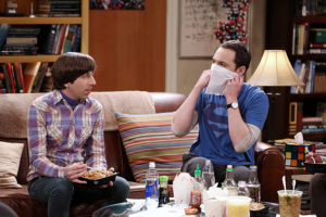 """""""The Sales Call Sublimation"""" -- Sheldon and Koothrappali collaborate on an astronomical discovery, and Wolowitz and Bernadette can't believe what they are feeling after Stuart moves out, on THE BIG BANG THEORY, Thursday, Jan. 7 (8:00-8:31 PM, ET/PT), on the CBS Television Network. Pictured left to right: Simon Helberg and Jim Parsons Photo: Michael Yarish/Warner Bros. Entertainment Inc. © 2015 WBEI. All rights reserved."""