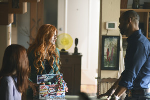 """SHADOWHUNTERS - """"The Mortal Cup"""" - One young woman realizes how dark the city can really be when she learns the truth about her past in the series premiere of """"Shadowhunters"""" on Tuesday, January 12th at 9:00 - 10:00 PM ET/PT. ABC Family is becoming Freeform in January 2016. Based on the bestselling young adult fantasy book series The Mortal Instruments by Cassandra Clare, """"Shadowhunters"""" follows Clary Fray, who finds out on her birthday that she is not who she thinks she is but rather comes from a long line of Shadowhunters - human-angel hybrids who hunt down demons. Now thrown into the world of demon hunting after her mother is kidnapped, Clary must rely on the mysterious Jace and his fellow Shadowhunters Isabelle and Alec to navigate this new dark world. With her best friend Simon in tow, Clary must now live among faeries, warlocks, vampires and werewolves to find answers that could help her find her mother. Nothing is as it seems, including her close family friend Luke who knows more than he is letting on, as well as the enigmatic warlock Magnus Bane who could hold the key to unlocking Clary's past. (ABC Family/John Medland) KATHERINE MCNAMARA, ISAIAH MUSTAFA"""