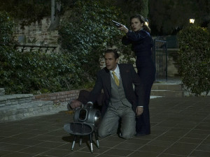 "MARVEL'S AGENT CARTER - ""Monsters"" - As Peggy plots a rescue mission, Whitney hunts for even more dark power; and Jarvis learns he should not make promises he cannot keep, on ""Marvel's Agent Carter,"" TUESDAY, FEBRUARY 16 (10:00-11:00 p.m. EST) on the ABC Television Network. (ABC/Byron Cohen) JAMES D'ARCY, HAYLEY ATWELL"