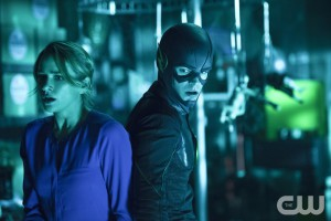 "The Flash -- ""Running to Stand Still"" -- Image: FLA209A_0288b.jpg -- Pictured (L-R): Shantel VanSanten as Patty Spivot and Grant Gustin as The Flash -- Photo: Cate Cameron/The CW -- © 2015 The CW Network, LLC. All rights reserved."