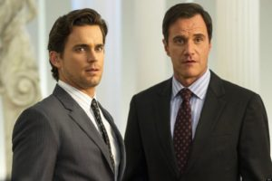 WHITE COLLAR -- Episode 415 'The Original' -- Pictured: (l-r) Matt Bomer as Neal Caffrey, Tim DeKay as Peter Burke -- (Photo by: David Giesbrecht/USA Network)