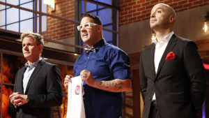 MASTERCHEF: MASTERCHEF returns for an exciting fifth season on Monday, May 26 (8:00-9:00 PM ET/PT). MASTERCHEF gives talented home cooks from all walks of life the chance to showcase their skills, knowledge and passion in front of the show's esteemed judges. Pictured L-R: Gordon Ramsay, Graham Elliot and Joe Bastianich. CR: Greg Gayne / FOX.
