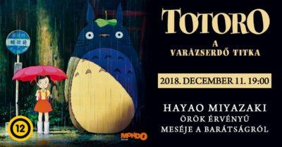 Totoro látható a Pólus Mozi Anime Filmklub következő vetítésén