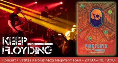 Pink Floyd est koncerttel és vetítéssel a Pólus Moziban