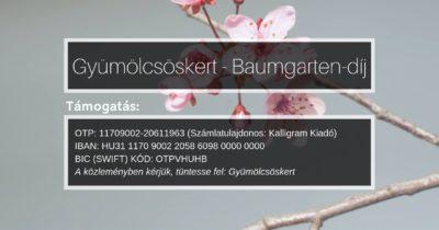 Átadták az első Baumgarten-emlékdíjakat