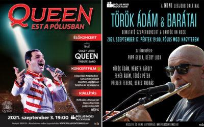Queen emlékesttel és Török Ádám koncerttel indul a Pólus Mozi élőzenei programsorozata